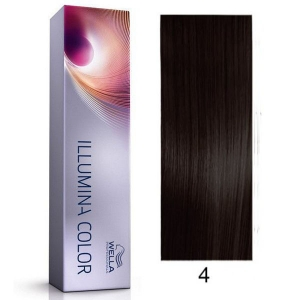 Tinte Illumina Color 4/ Wella Castaño Medio 60ml