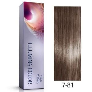Tinte Illumina Color 7/81 Wella Rubio Medio Perla Ceniza 60ml