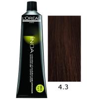 Loreal Tinte Inoa 4.3 Castaño Dorado 60ml Sin Amoniaco