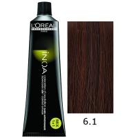 Loreal Tinte Inoa 6.1 Rubio Oscuro Ceniza 60ml Sin Amoniaco