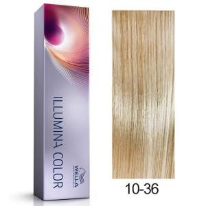Tinte Illumina Color 10/36 Wella Rubio Super Claro Dorado Violeta 60ml