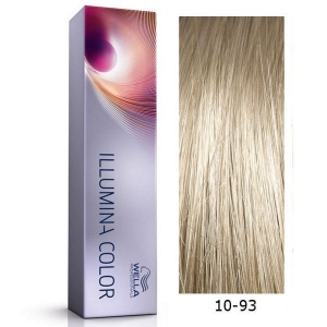 Tinte Illumina Color 10/93 Wella Rubio Super Claro Ceniza Dorado 60ml