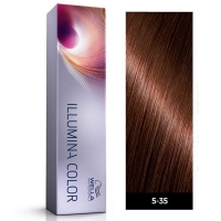 Tinte Illumina Color 5/35 Wella Castaño Claro Dorado Caoba 60ml