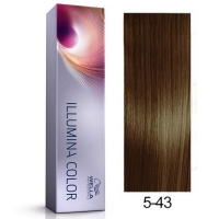 Tinte Illumina Color 5/43 Wella Castaño Claro Cobre Dorado 60ml