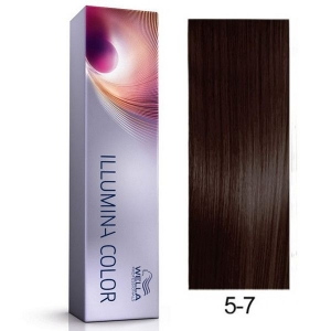 Tinte Illumina Color 5/7 Wella Castaño Claro Marrón 60ml