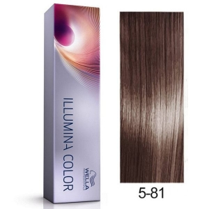 Tinte Illumina Color 5/81 Wella Castaño Claro Perla Ceniza 60ml