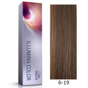 Tinte Illumina Color 6/19 Wella Rubio Oscuro Ceniza Cendre 60ml
