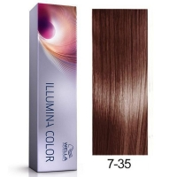 Tinte Illumina Color 7/35 Wella Rubio Medio Dorado Caoba 60ml