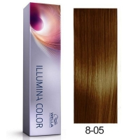 Tinte Illumina Color 8/05 Wella Rubio Claro Natural Caoba 60ml