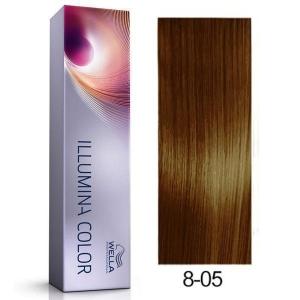 Tinte Illumina Color 8/05 Wella Rubio Claro Natural Caoba 60ml