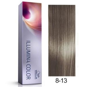 Tinte Illumina Color 8/13 Wella Rubio Claro Ceniza Dorado 60ml