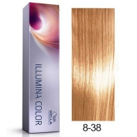 Tinte Illumina Color 8/38 Wella Rubio Claro Dorado Perla 60ml