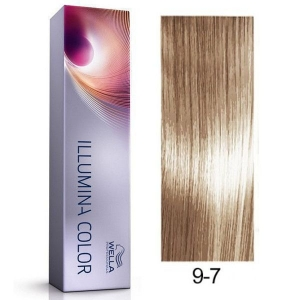Tinte Illumina Color 9/7 Wella Rubio Muy Claro Marrón 60ml