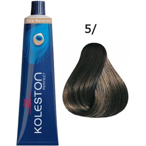 Tinte Koleston Perfect 5/ Wella Castaño Claro Puro Pure Naturals 60ml