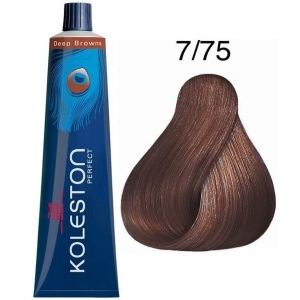 Tinte Koleston Perfect 7/75 Wella Rubio Medio Marrón Caoba Deep Browns 60ml