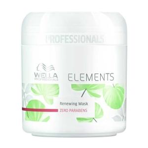 Mascarilla ELEMENTS Wella Sin Parabenos 150ml restaura, refuerza y preserva intensamente la estructura interna del cabello